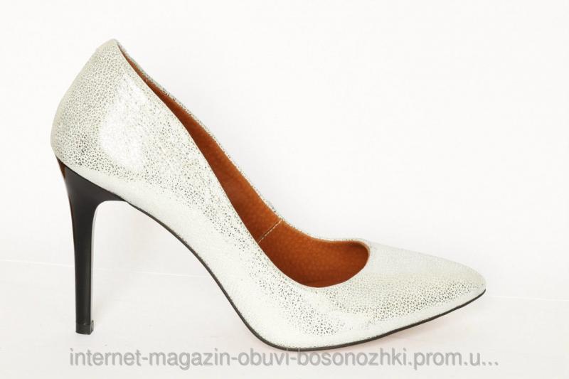 Женские туфли белый сатин