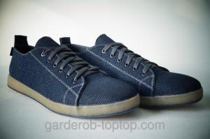 Фото Мужские кроссовки Мужские кеды синий джинс.