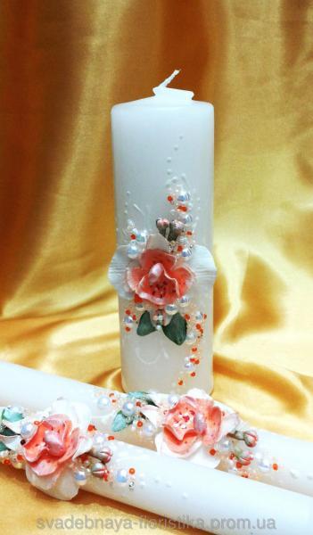 """Семейный очаг """"Орхидея"""" в персиковом цвете."""