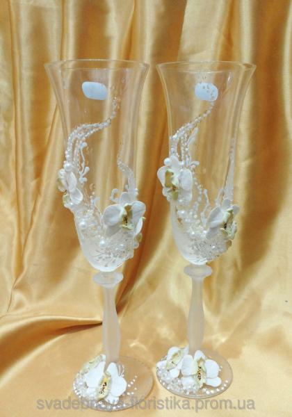 """Свадебные бокалы """"Букет орхидей"""""""