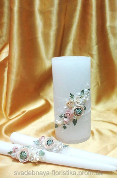 """Свадебные свечи """"Пионы"""""""