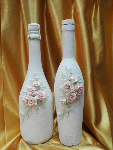 """Свадебное шампанское """"Ветка розы"""""""