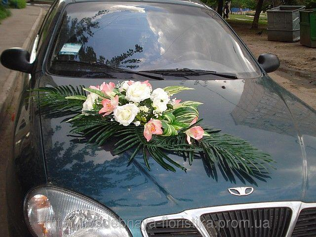 Украшение на свадебные машины