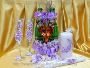 Фото Свадебные аксессуары в едином стиле Свадебные аксессуары