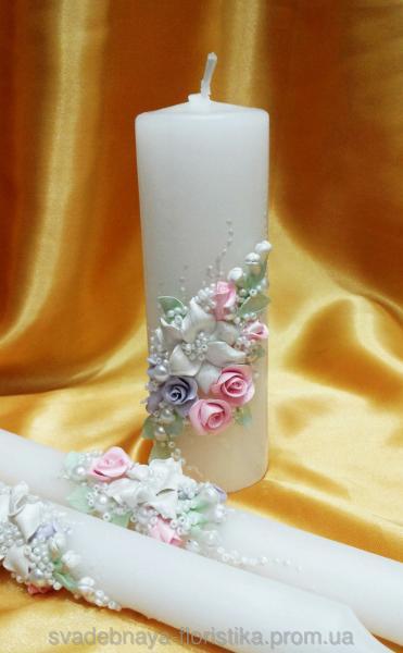 """Свадебные свечи """" Свадебная поляна"""""""