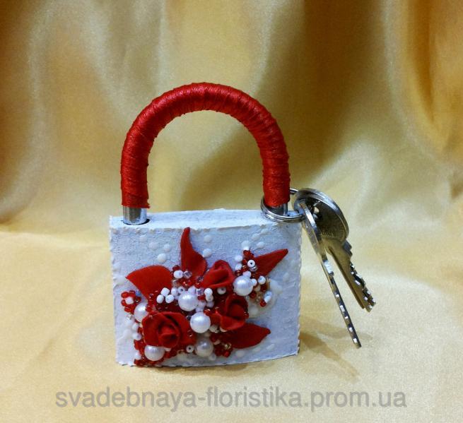 Свадебный замок любви (красный)