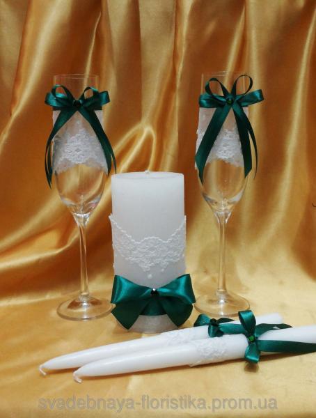 Свадебный комплект в едином стиле.