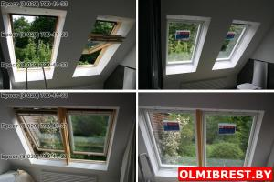 Фото  Панорамное мансардное окно Velux GPL в Бресте