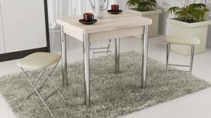 Фото Столы обеденные ТриЯ-Стол обеденный с хромированными ножками «Лион» СМ-204.02.2