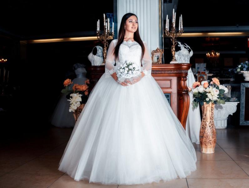 Свадебное платье Аврил фр.кружево