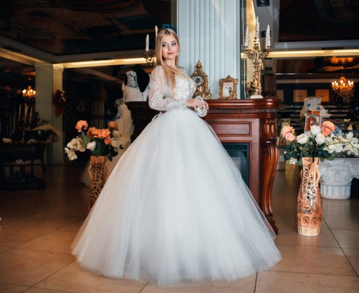 Свадебное платье Британия нью (с рукавом)