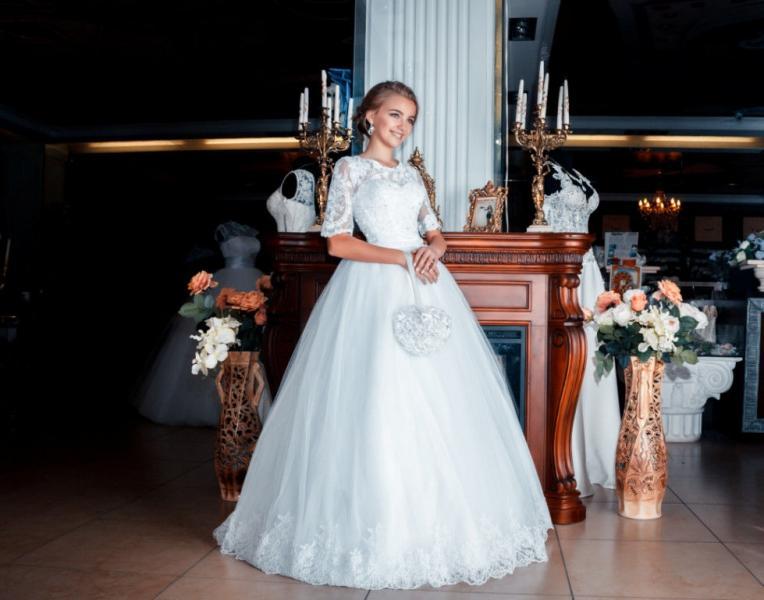 Свадебное платье Юджия (с рукавом)