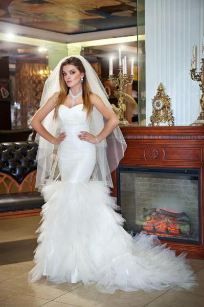 Свадебное платье рыбка Крылья ангела