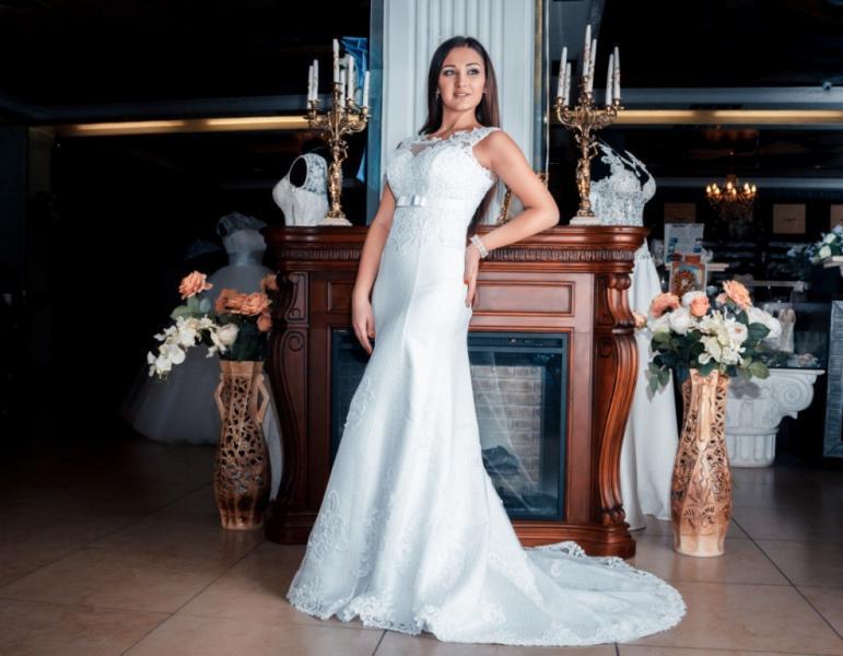 Свадебное платье рыбка Макрамэ