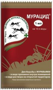 Фото Средства защиты растений, Средства от муравьев и тараканов МУРАЦИД 1мл