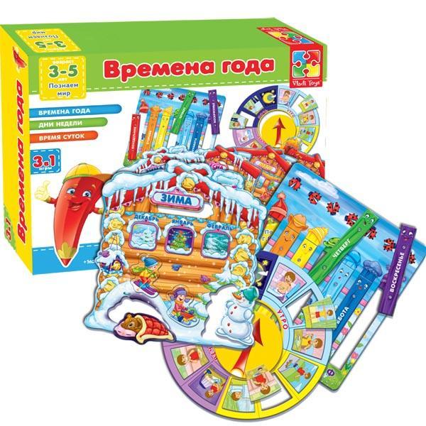 Развивающая настольная игра «Времена года» Vladi Toys VT1603-02