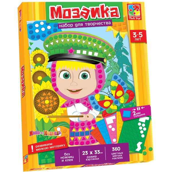Мягкая мозаика с Машей Vladi toys VT4207-03