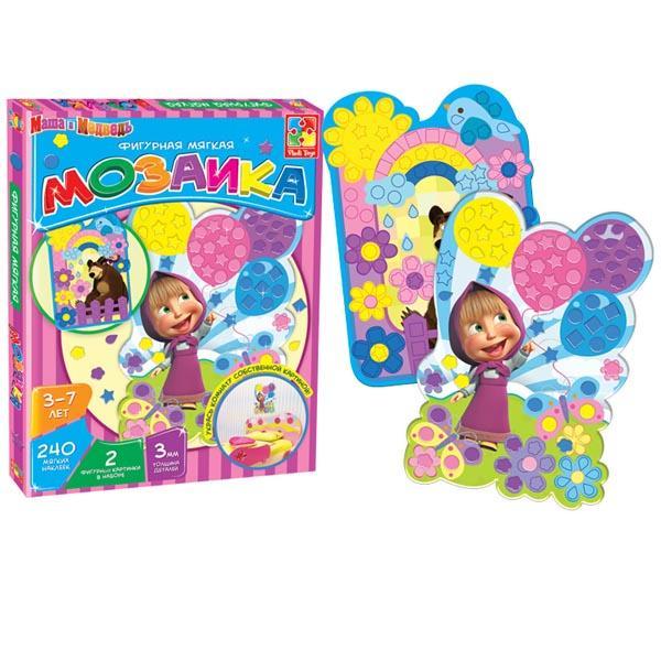 Мягкая фигурная мозаика «Маша и Медведь» Vladi toys VT2301-04
