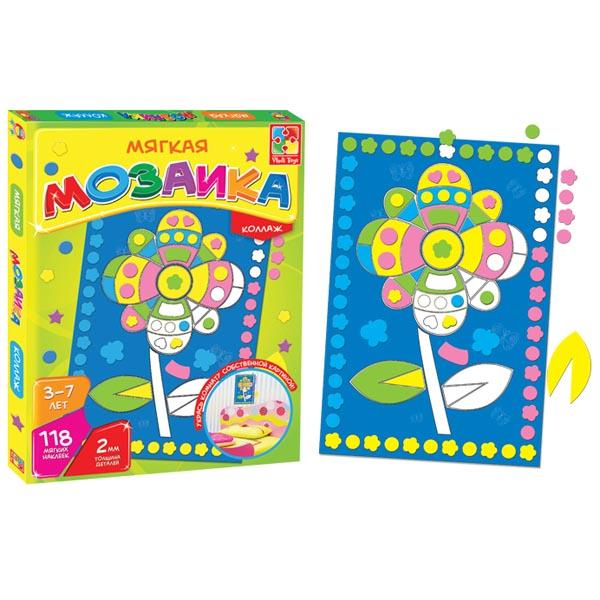 Мозайка-коллаж «Цветок» Vladi toys VT2301-08