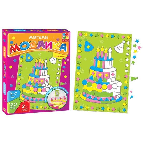 Мозайка-коллаж «Торт» Vladi toys VT2301-07