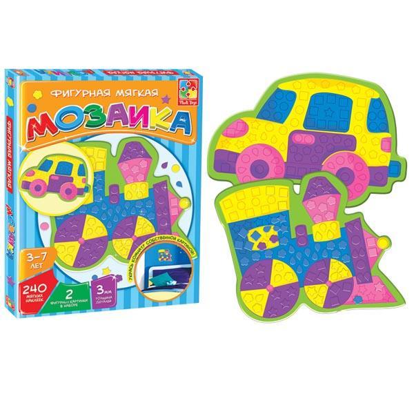 Мягкая фигурная мозаика «Паровозик» Vladi toys VT2301-02
