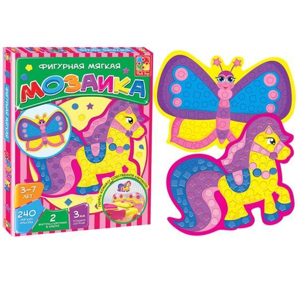 Мягкая фигурная мозаика «Лошадка» Vladi toys VT2301-01