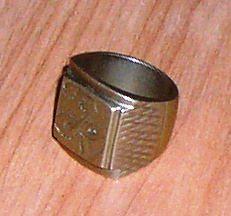 Перстень-печатка бронзовый мужской *4243