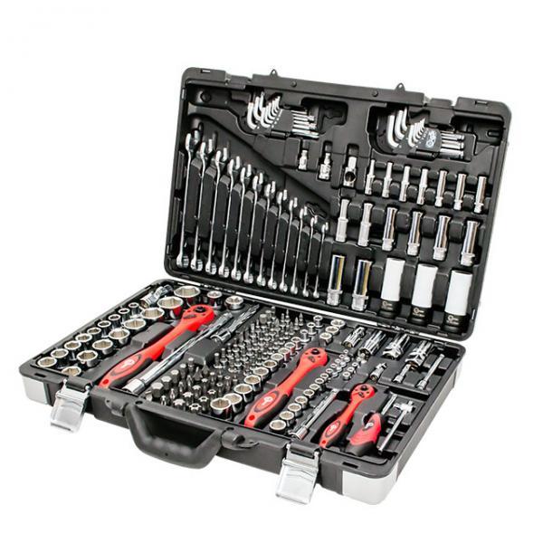 """Профессиональный набор инструментов, 1/4"""" & 3/8"""" & 1/2"""", 176 ед. INTERTOOL ET-7176"""