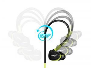 Фото Наушники Гарнитуры FONGE IPX5 Водонепроницаемые спортивные наушники с микрофоном hi-fi стерео бас с креплением-крючком
