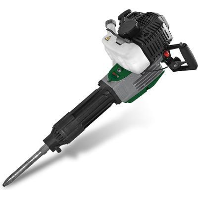 Бензиновый отбойный молоток DWT GH52-50 Режим инструмента  ударный Тип  Дрель Вес кг 2,6 Реверс  да Гарантийный срок мес 24 Тип инструмента  ударная дрель Номинальная мощность  1050 Вт Сила тока при напряжении 230В  4.88 A Номинальное число оборотов  1200