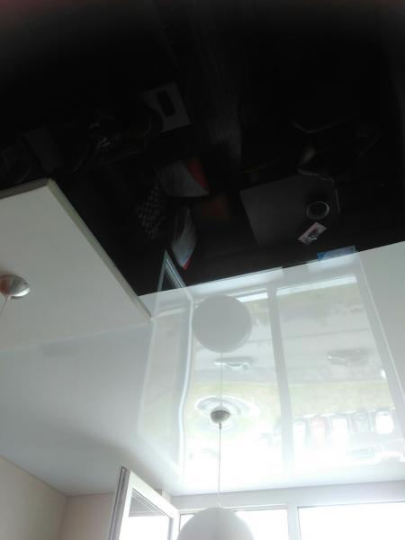 Черные натяжные потолки
