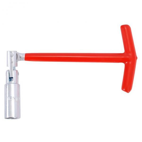 Свечной ключ Т-образный с шарниром 16х250 мм INTERTOOL HT-1717