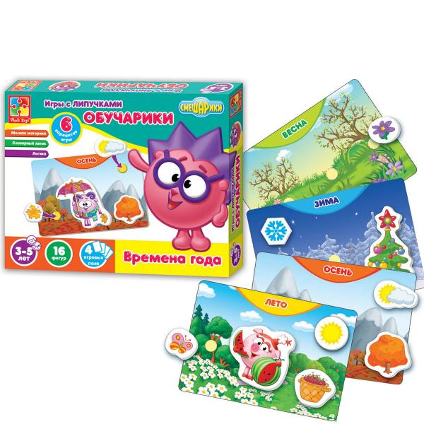Игра с липучками «Обучарики. Времена года» Vladi Toy VT2307-03