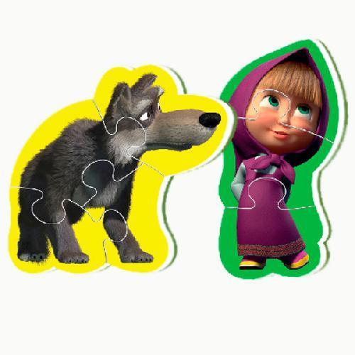 Беби пазлы Мини Маша и медведь (2 шт в наборе) Vladi Toy VT1107-02