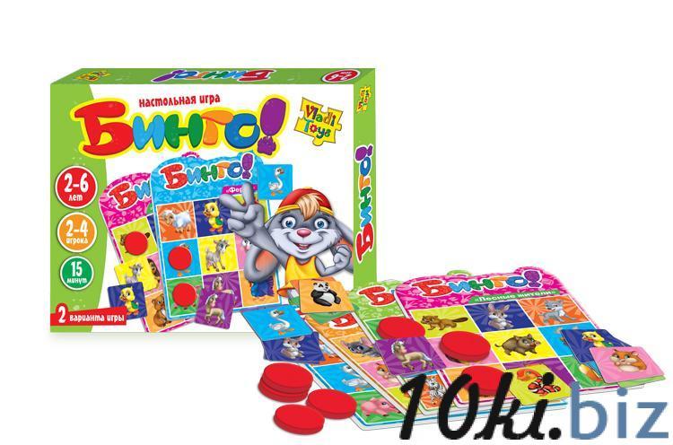 Настольная игра «Бинго» Vladi Toys VT2106-02 Детское домино, лото в Украине