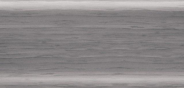 Плинтус напольный 56 мм с кабель-каналом Rico Leo Ольха серая