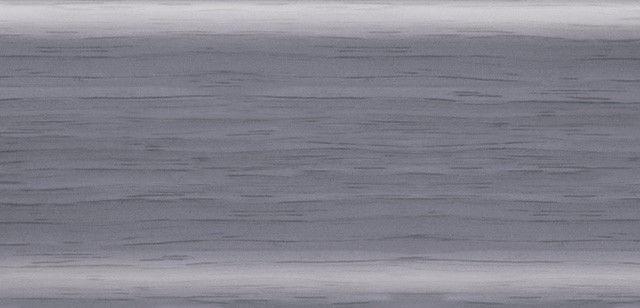 Плинтус напольный 56 мм с кабель-каналом Rico Leo Ольха голубая