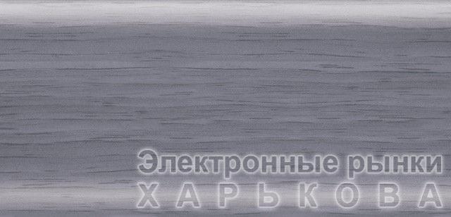 Плинтус напольный 56 мм с кабель-каналом Rico Leo Ольха голубая - Плинтусы на рынке Барабашова