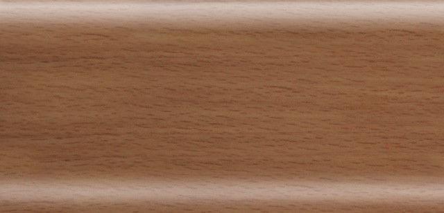 Плинтус напольный 56 мм с кабель-каналом Rico Leo Бук темный