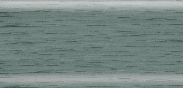 Плинтус напольный 56 мм с кабель-каналом Rico Leo Ольха зеленая
