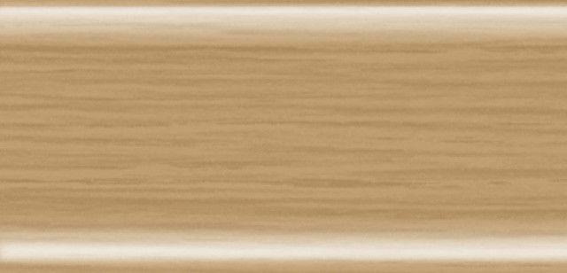 Плинтус напольный 56 мм с кабель-каналом Rico Leo  Дуб золотистый