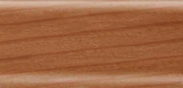 Плинтус напольный 56 мм с кабель-каналом Rico Leo Дикая вишня