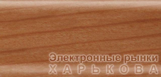 Плинтус напольный 56 мм с кабель-каналом Rico Leo Дикая вишня - Плинтусы на рынке Барабашова