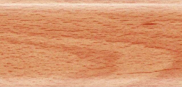 Плинтус напольный 56 мм с кабель-каналом Rico Leo  Бук розовый
