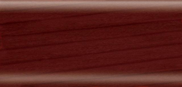 Плинтус напольный 56 мм с кабель-каналом Rico Leo Вишня виньола