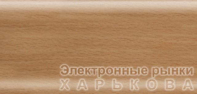 Плинтус напольный 56 мм с кабель-каналом Rico Leo Бук натуральный - Плинтусы на рынке Барабашова