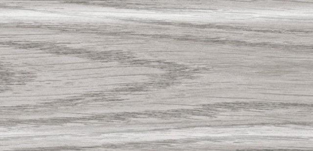 Плинтус напольный 56 мм с кабель-каналом Rico Leo Серебристая сосна