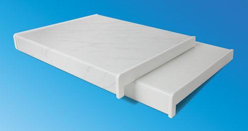 400(мм)Подоконник Элизиум Пласт Глянцевый белый