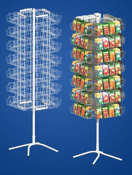 Стойка четырёхгранная для семян (112 карманов, 4 дисплея)