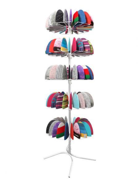 Стойка вращающаяся под вязаные шапки на 105 кронштейнов